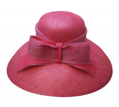 ceremonial hat - Audrey - raspberry pink