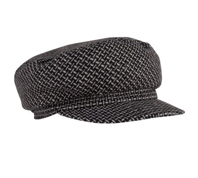 Cap - Brandon - black/white - wool