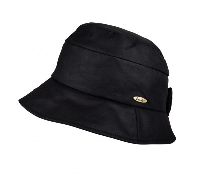 Rain hat - CARLA/B - black wax