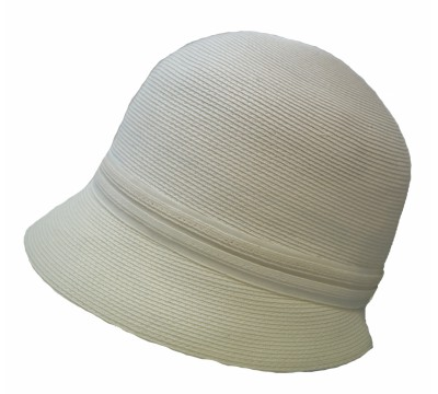 Cloche hat - Lotte - white