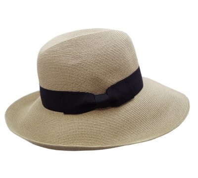 Fedora Hat - Cien - natural/ black -travel hat