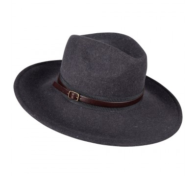 Fedora hat - Frederique - dark grey