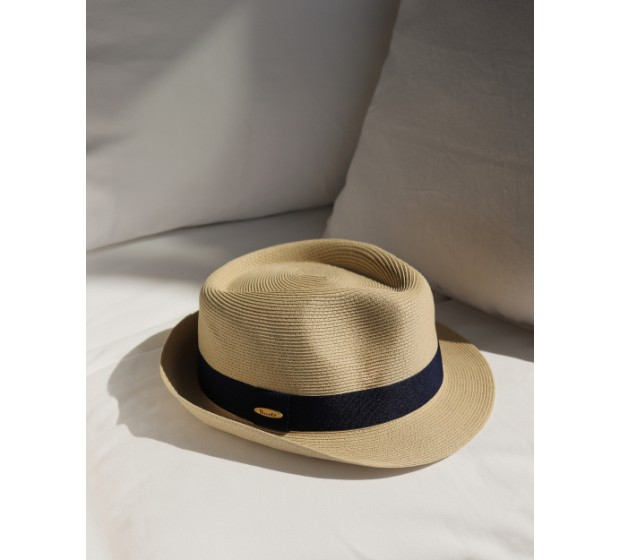 Bronté Trilby hat - Trilby - natural/black -travel hat