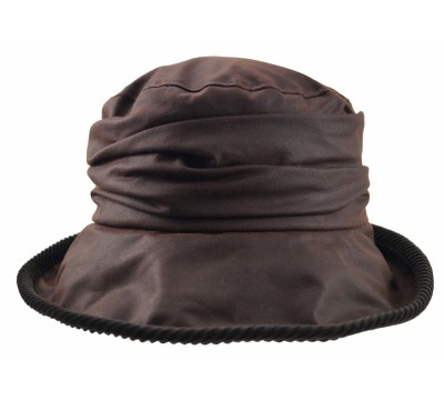 Rain hat -  Eveline - brown wax