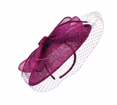 Fascinators - Sheila - dark fuchsia