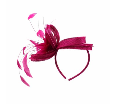Fascinators - Anne - Fuchsia