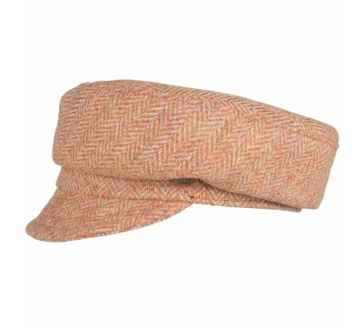 Cap - Ella - Linton Tweed - rust/orange