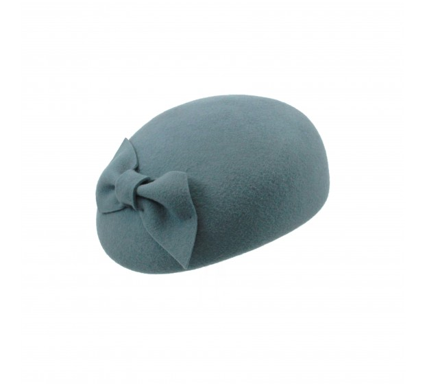Pillbox hat - Willemijn - blue aqua
