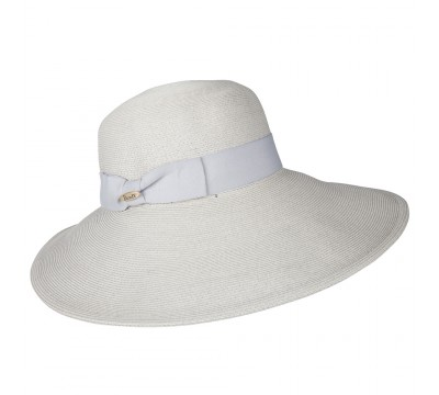 Wide brim hat - Jacqueline - grey
