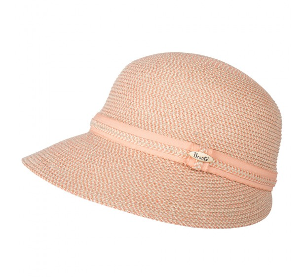 Bronté Cap - Linda -  coral/natural - travel hat