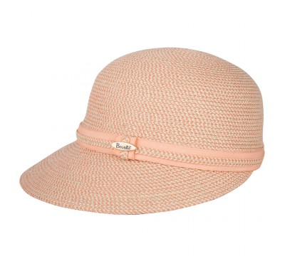 Summer Cap - Linda -  coral/natural - travel hat
