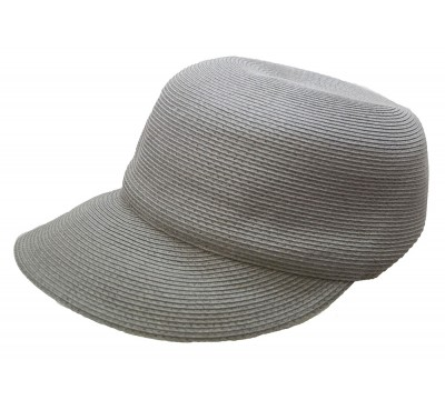 Summer cap -Linda - pale grey - travel hat