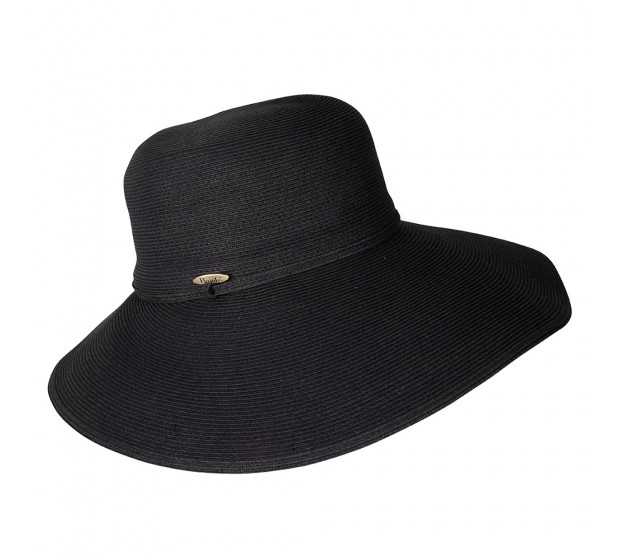 Wide Brim hat -Melina - black