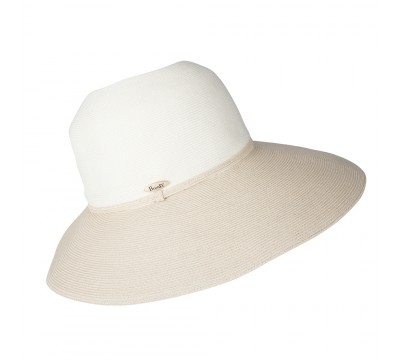 Wide Brim hat -Melina - ivory/natural