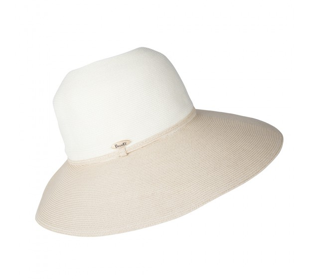 Wide Brim hat -Melina - ivory/natural - travel hat