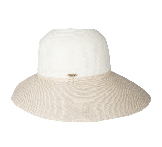 Bronté Wide Brim hat -Melina - ivory/natural - travel hat