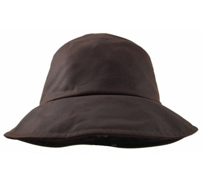 Rain hat - Pip - brown wax