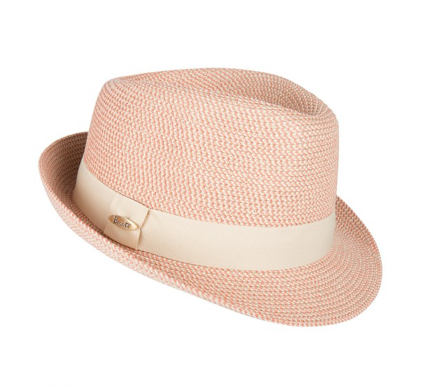 Trilby hat - Trilby - coral melee- travel hat