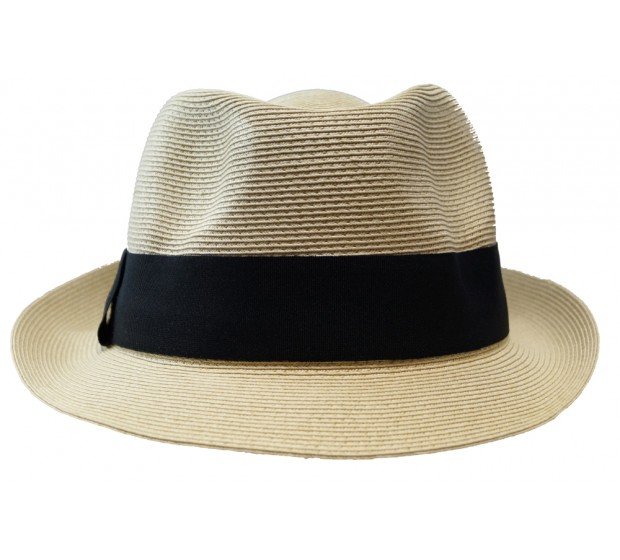 Trilby hat - Trilby - natural/black -travel hat