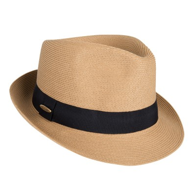 Trilby hat - Trilby - camel -travel hat