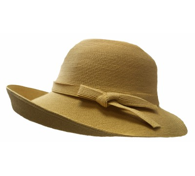 Wide brim hat - Joanna - camel - travel hat