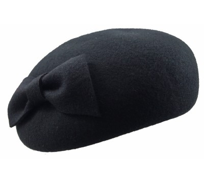 Pillbox hat - Willemijn - black