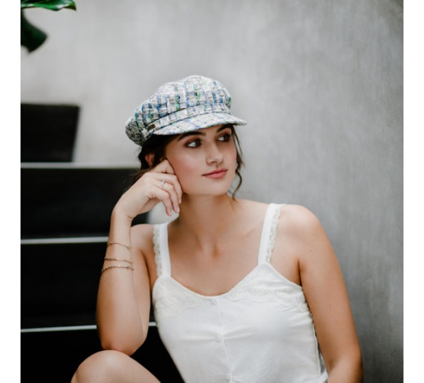 Bronté Cap - Shipper - Linton Tweed white
