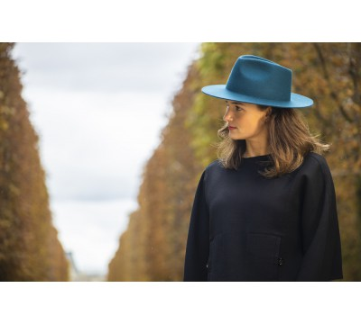 Fedora hat - Charley - teal green