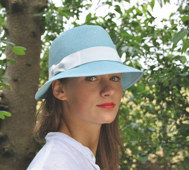 Bronté Trilby - Fisher hat - turquoise -  travel hat