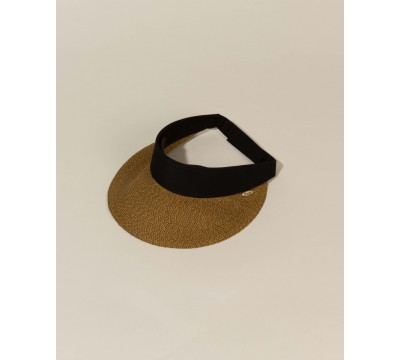 Sun visor - Evy - coffee brown/black