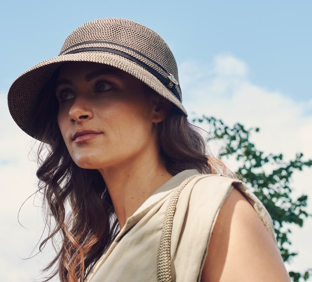 Bronté Cap - LindaB - black/natural melee - travel hat
