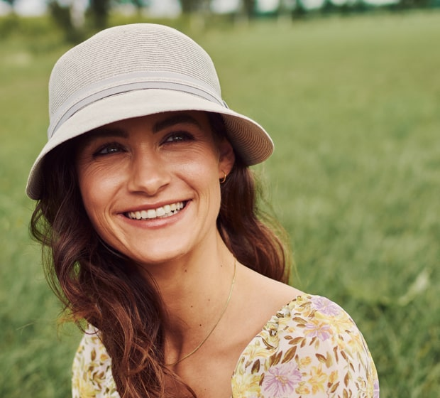 Bronté Cap - Linda - pale grey - travel hat