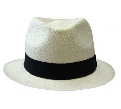 Trilby Hat - Bob - Panama- White (bleach)