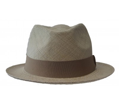 Trilby hat - Bob - panama -Taupe