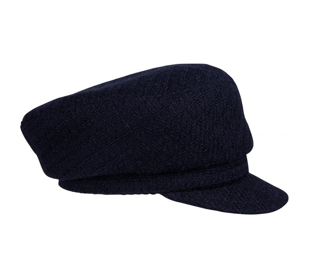 Cap - Brandon - navy - Linton Tweed