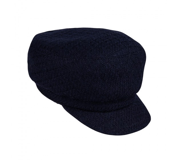 Bronté Cap - Brandon - navy - Linton Tweed