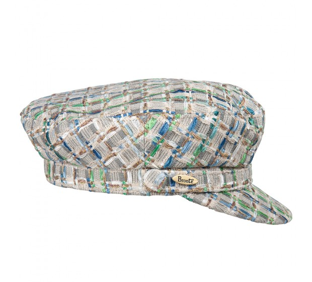 Bronté Cap - Shipper - Linton Tweed - blue/green