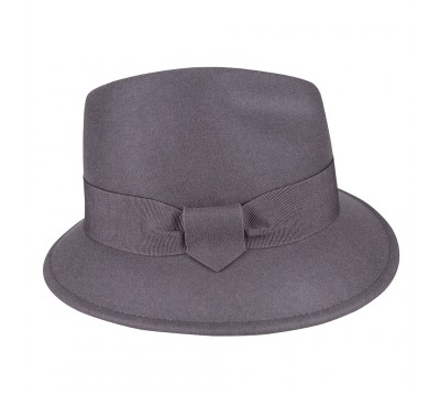 Trilby hat - Jade - grey<br />