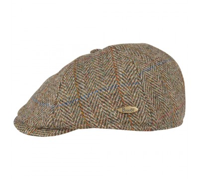 Cap - Rocky - Harris Tweed brown