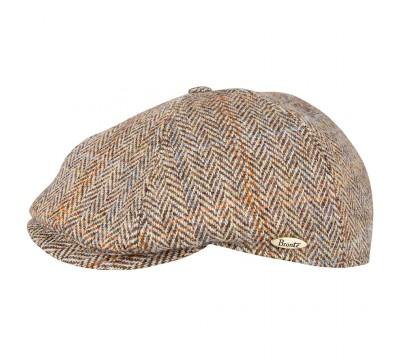 Cap - Rocky - Harris Tweed light brown