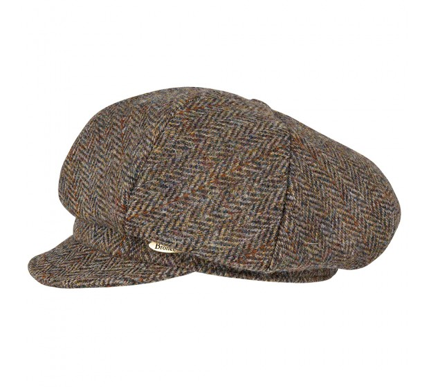 Cap - Romee - Harris Tweed brown