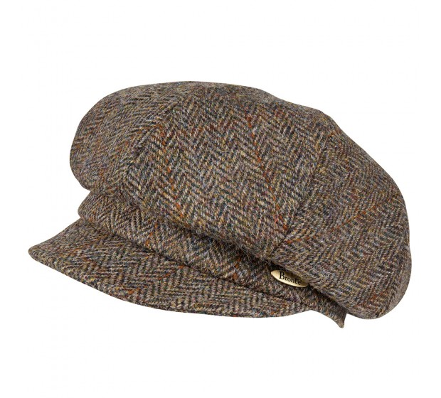 Bronté Cap - Romee - Harris Tweed brown