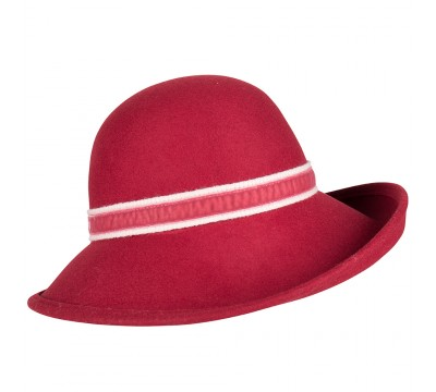 Wide brim hat - Alexis - wine
