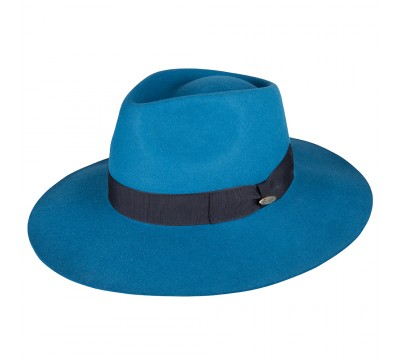 Fedora hat - Bobby - teal blue