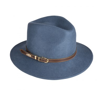 Fedora hat - Cleo - Avion blue