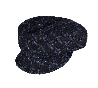 Cap - Ella - Linton Tweed - navy/black