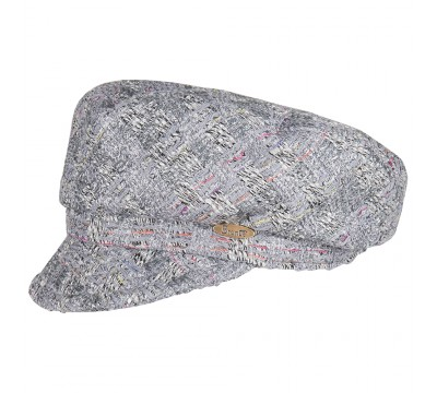 Cap - Ella - grey melange Linton Tweed