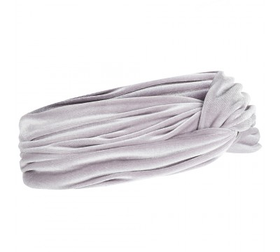 Headband - June - silver grey - velvet