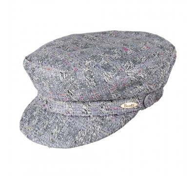 Cap - Shipper - grey silver Linton Tweed