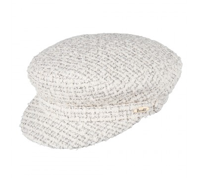 Cap - Shipper - Linton Tweed white